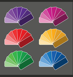 set of six color palette vector image