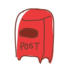 A postbox is placed vector