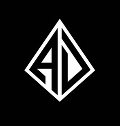 Ad logo letters monogram with prisma shape design vector
