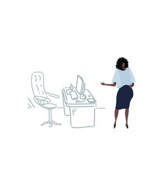 african american businesswoman pointing modern vector image