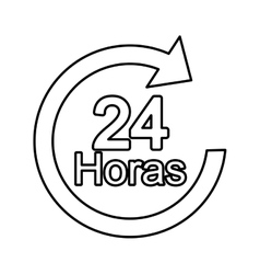 Arrow 24 hours service vector