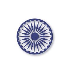 ashoka wheel for indian national holidays vector image