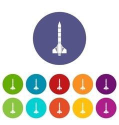 Atomic rocket set icons vector image