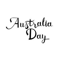 australia day postcard ink vector image vector image