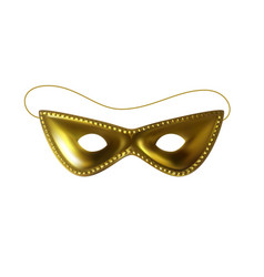 Beautiful golden carnival mask vector