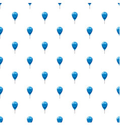 Blue balloon pattern vector