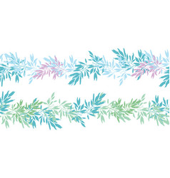 blue pink tropical leaves summer horizontal vector image