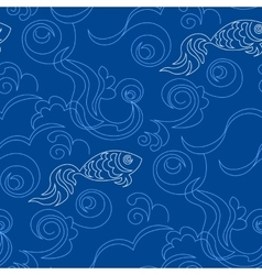Blue wallpaper pattern vector image