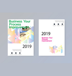 business abstract template brochure design cover vector image