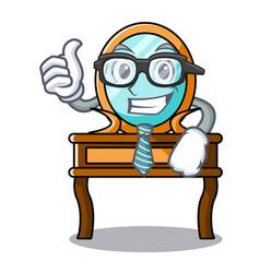 businessman dressing table character cartoon vector image