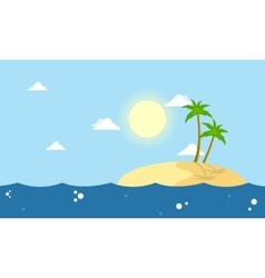 Cartoon islands landscape collection stock vector