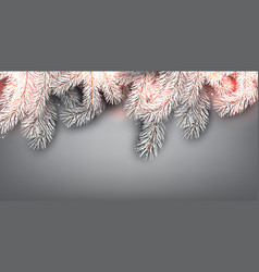 Christmas background with white fir twig vector