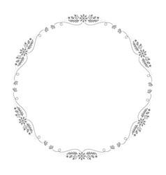 christmas monoline wreath with cone vector image