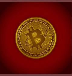 concept of bitcoin crypto coin vector image