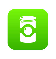 cosmetic jar plastic icon green vector image