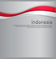 Cover banner in national colors of indonesia vector