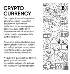 cryptocurrency poster bitcoins mining and online vector image