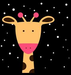 cute fanny giraffe vector image