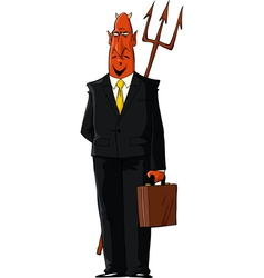 Devil in a tie vector