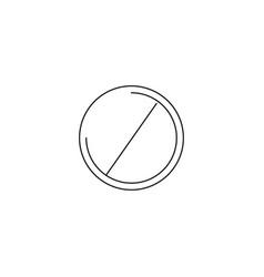 Do not entry line icon prohibition sign forbidden vector