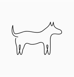 dog one line drawing continuous line pet animal vector image