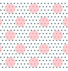 elegant circles polka art pattern vector image