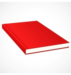 Empty book with res cover vector