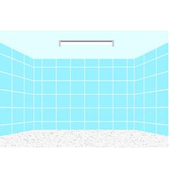Empty clean bathroom in design perspective vector