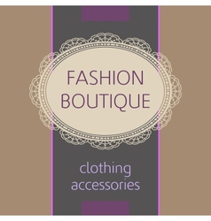 fashion boutique vector image