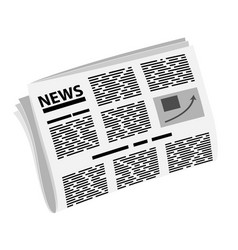 folded newspaper in half news or events badge or vector image