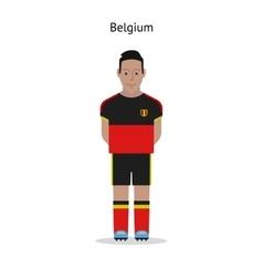 Football kit Belgium vector image