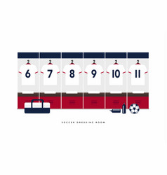 football or soccer dressing room vector image