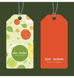 fresh salad vertical round frame pattern tags set vector image