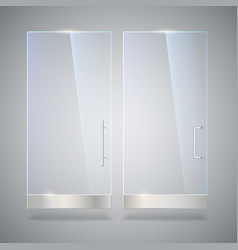 glass door with reflection and shadows isolated vector image