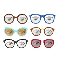 Glasses human eye vector image