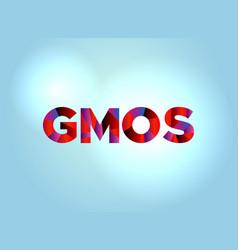 Gmos concept colorful word art vector