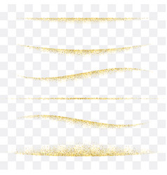 Golden lines tinsel shine abstract vector
