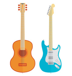 Guitars set vector
