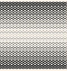 halftone geometric seamless pattern with diamonds vector image