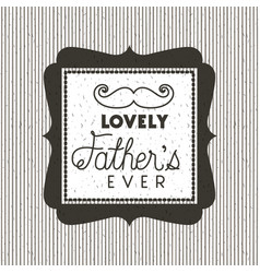 happy fathers day card with mustache vector image