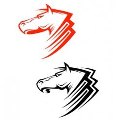 Horses symbols vector