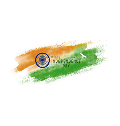 india independence day design watercolor vector image