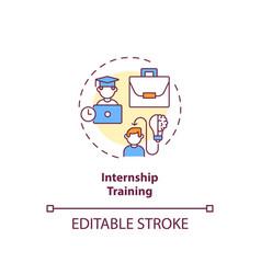 internship training concept icon vector image