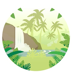 Jungle Flat Background16 vector image
