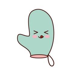 kitchen glove kawaii character vector image