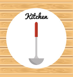 kitchen soup spoon utensil icon vector image