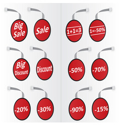 labels sale discount vector image