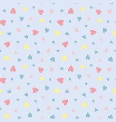 Love hearts on pale blue background pattern for vector