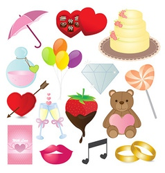 Love Icons Collection vector image