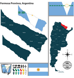 Map of formosa province argentina vector